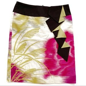 Floreat Sz 0P Abstract Embroidered Skirt
